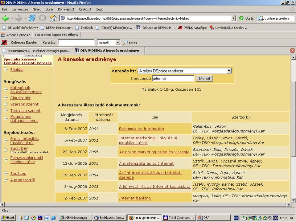 2007. május 22. Debrecen Digitalizálás és elektronikus hozzáférés 25