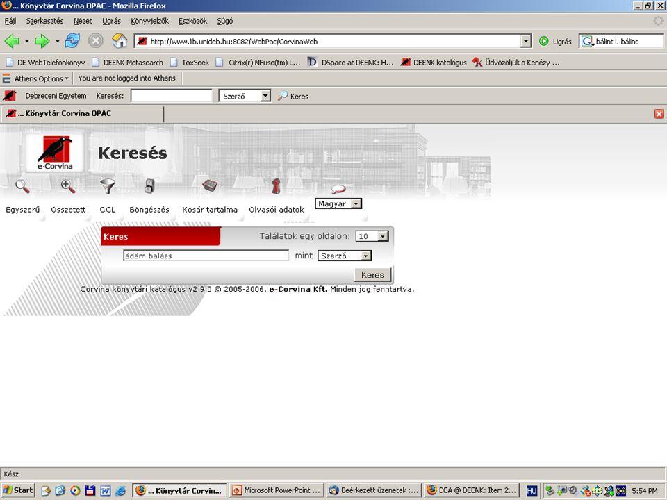 2007. május 22. Debrecen Digitalizálás és elektronikus hozzáférés 38