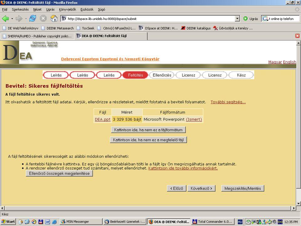 2007. május 22. Debrecen Digitalizálás és elektronikus hozzáférés 54