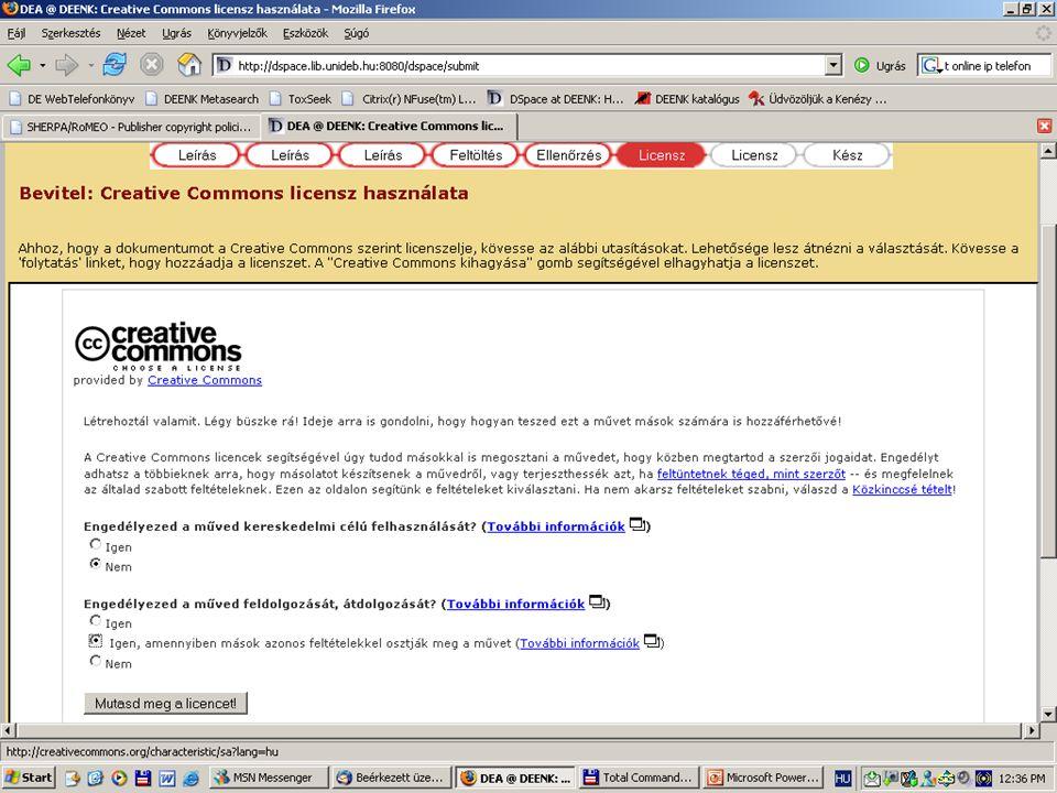 2007. május 22. Debrecen Digitalizálás és elektronikus hozzáférés 56