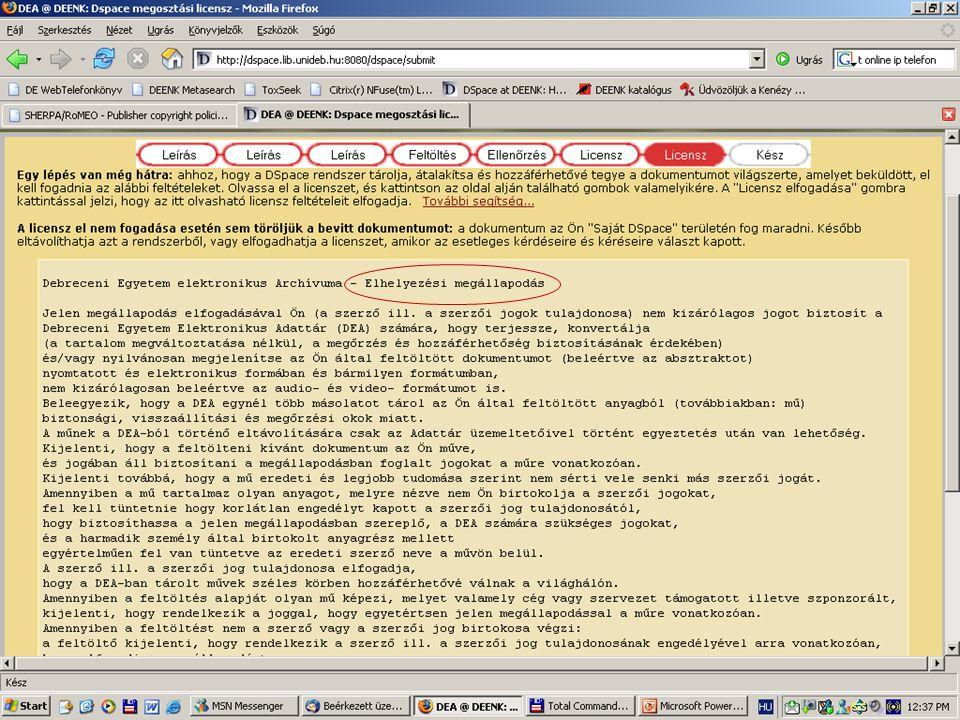 2007. május 22. Debrecen Digitalizálás és elektronikus hozzáférés 58