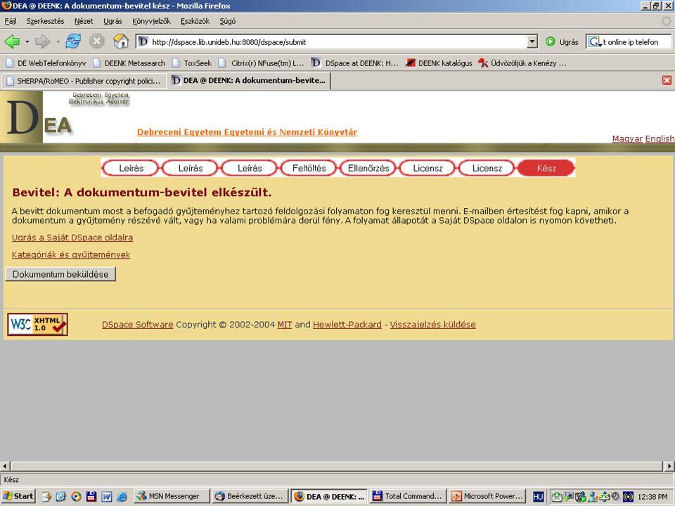 2007. május 22. Debrecen Digitalizálás és elektronikus hozzáférés 59