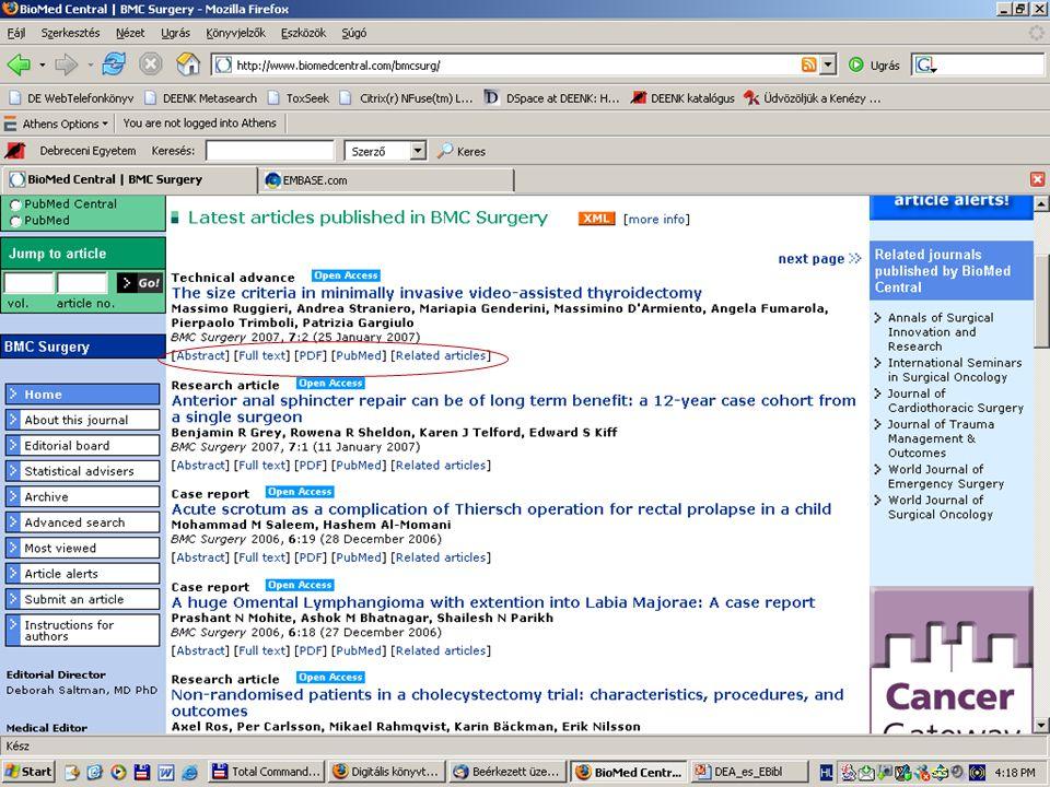 2007. május 22. Debrecen Digitalizálás és elektronikus hozzáférés 7