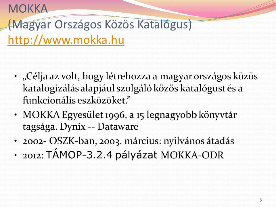 ODR-kereső http://www.odrportal.hu/kereso/http://www.odrportal.hu/kereso/ 30 Elektronikus dokumentumok, egyéb adatbázisok bevonása a szolgáltatásba