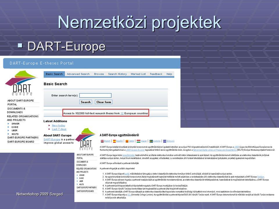 Networkshop 2009 Szeged23 Nemzetközi projektek  DART-Europe
