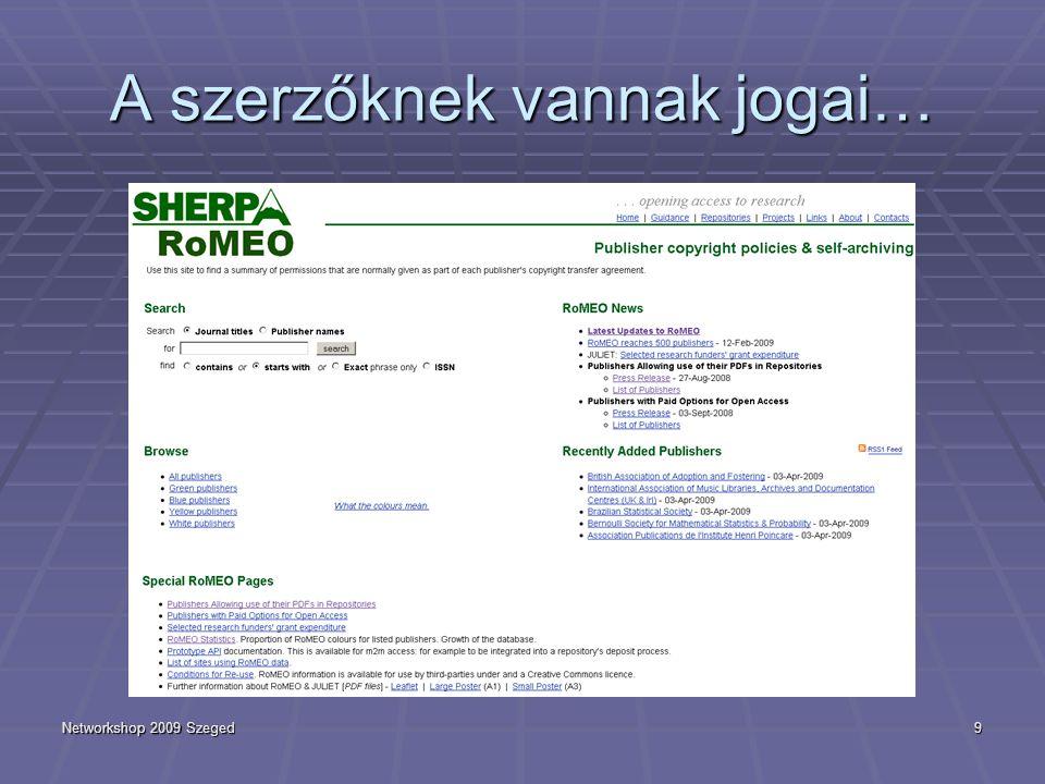 Networkshop 2009 Szeged20 HUNOR  Felmérés  Operatív csoport létrehozása  Közvetlen célterületek azonosítása