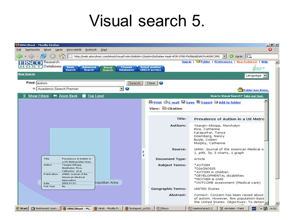 Visual search 5.