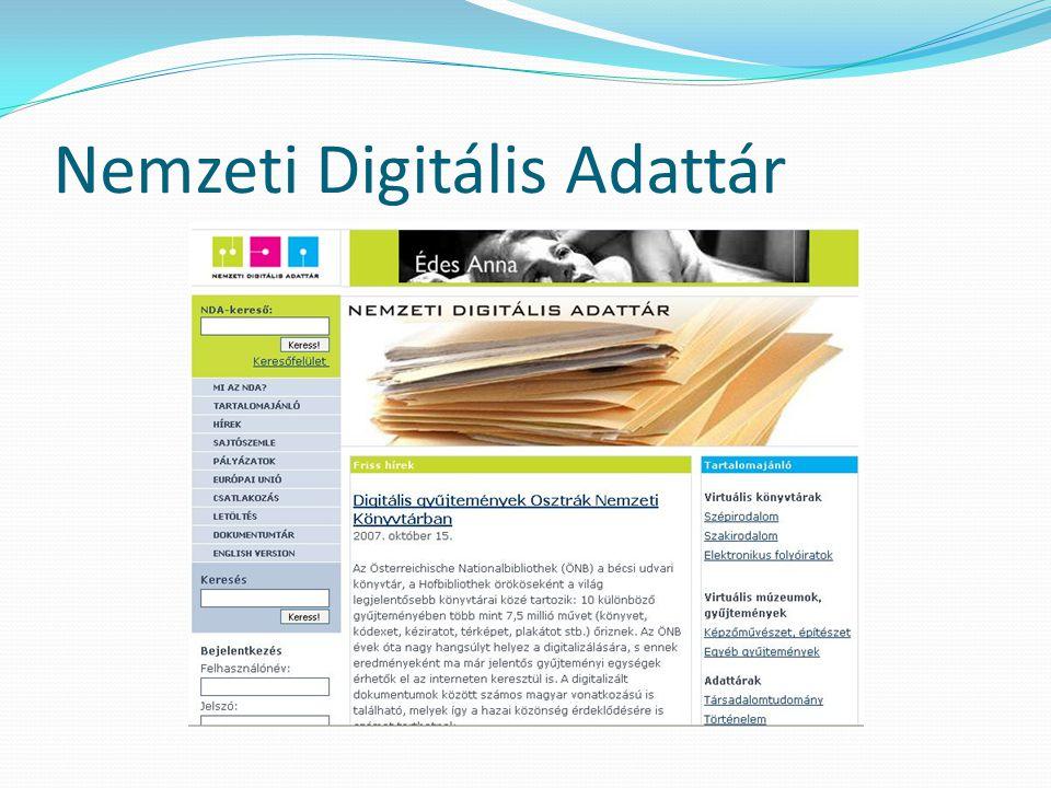 Nemzeti Digitális Adattár