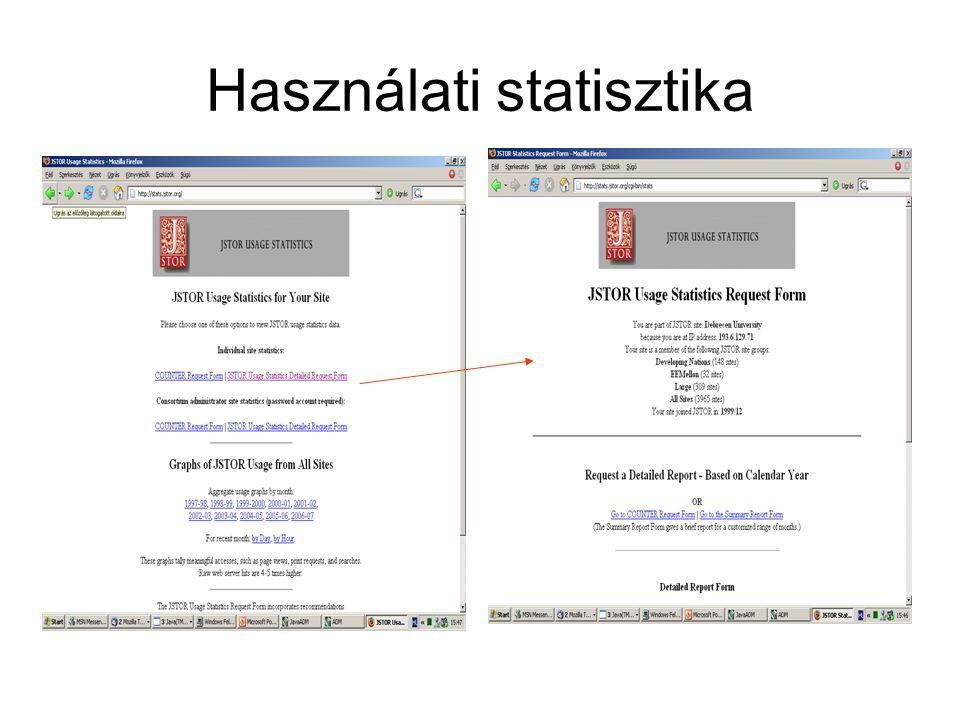 Használati statisztika