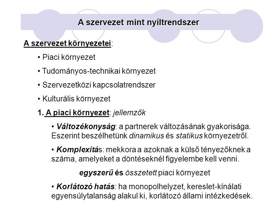 Szervezeti alapformák 3.