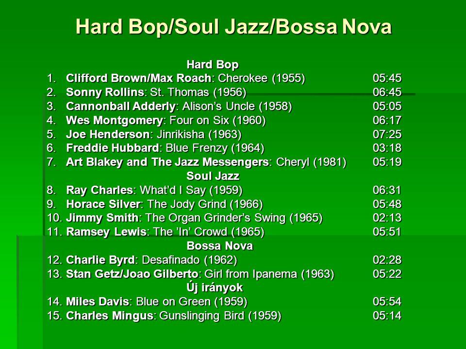 Hard Bop/Soul Jazz/Bossa Nova Hard Bop 1. Clifford Brown/Max Roach: Cherokee (1955)05:45 2.
