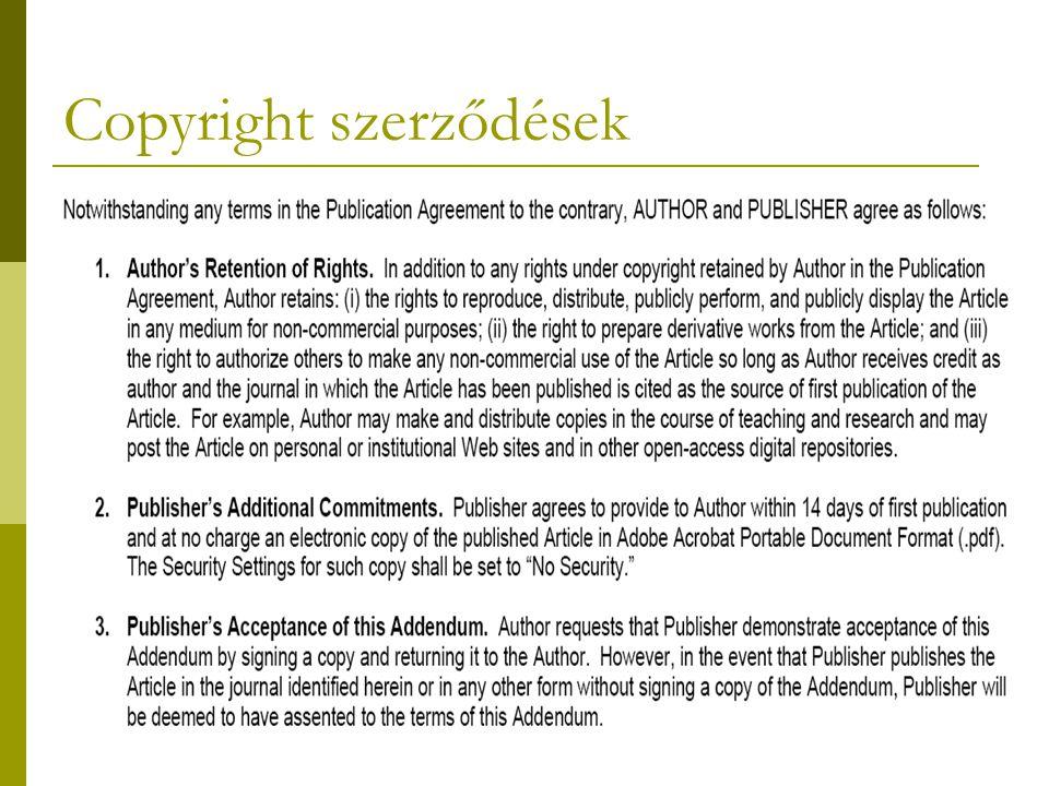 Copyright szerződések