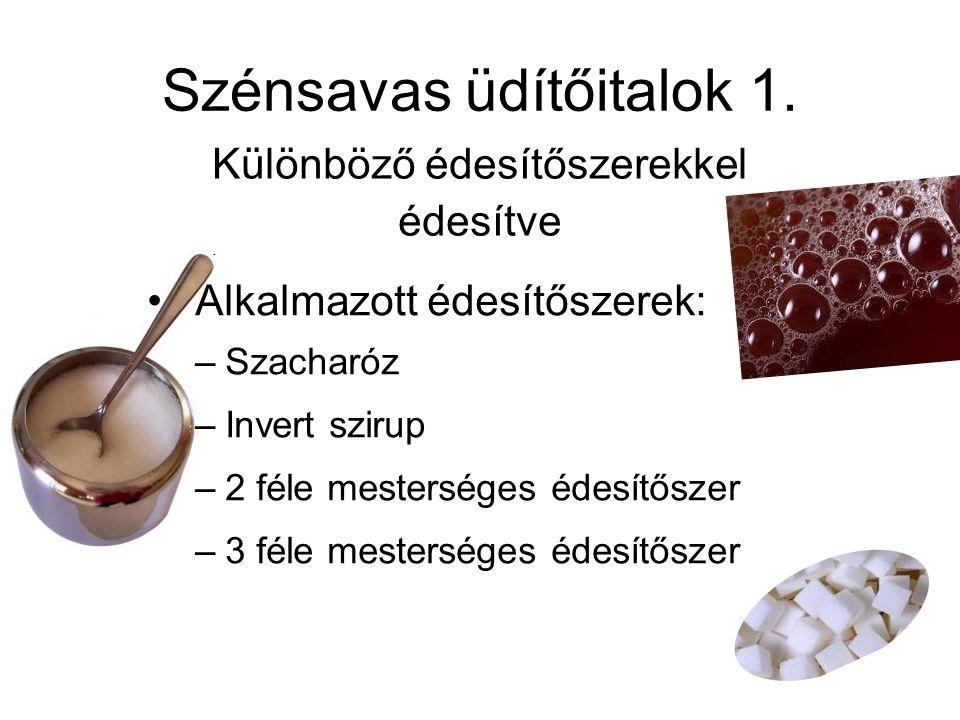 Szénsavas üdítőitalok 1.
