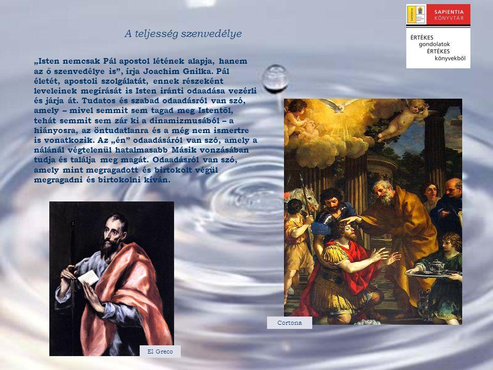 """""""Isten nemcsak Pál apostol létének alapja, hanem az ő szenvedélye is"""", írja Joachim Gnilka. Pál életét, apostoli szolgálatát, ennek részeként levelein"""