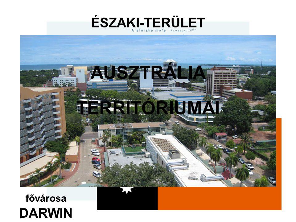 ÉSZAKI-TERÜLET fővárosa DARWIN AUSZTRÁLIA TERRITÓRIUMAI