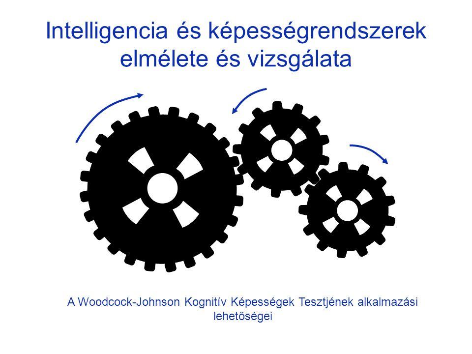 Intelligencia és képességrendszerek elmélete és vizsgálata A Woodcock-Johnson Kognitív Képességek Tesztjének alkalmazási lehetőségei
