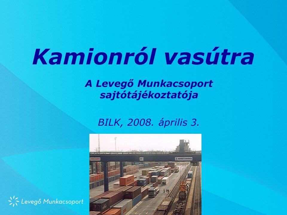 Kamionról vasútra A Levegő Munkacsoport sajtótájékoztatója BILK, 2008. április 3.