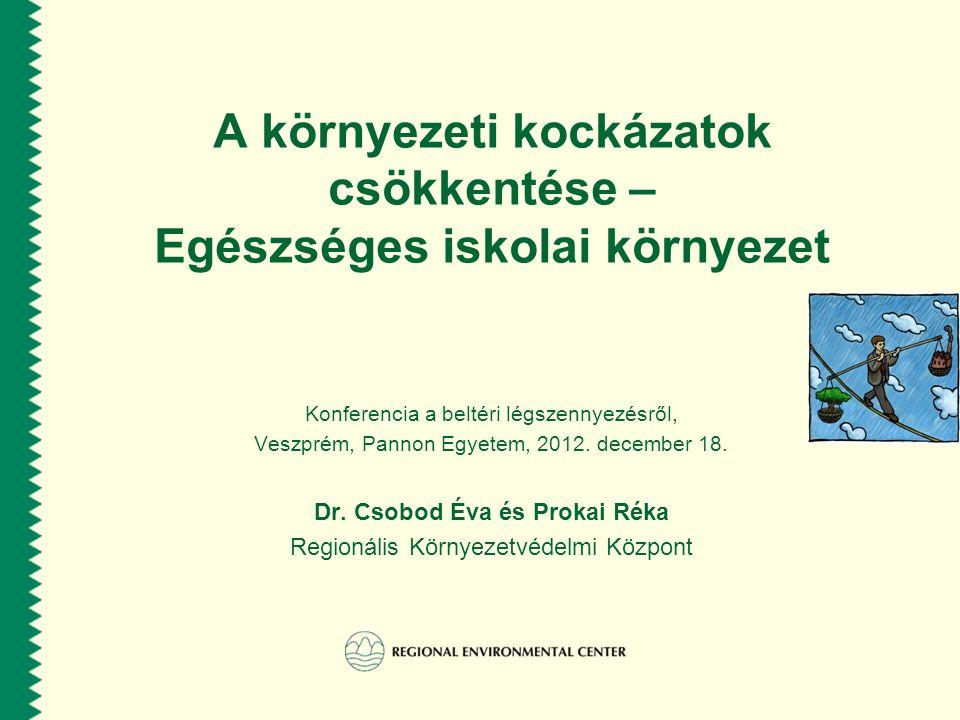REC szerepe az Európai környezet- egészségügyi folyamatban A környezet és egészségügyi szektorok közti együttműködés segítése a politikai célkitűzések és nemzetközi és nemzeti szintű integrációja által a 17 REC országban Az elővigyázatosság elvének erősítése a közegészségügy és környezetvédelem területein, különös tekintettel a gyermekeink jövőjére.