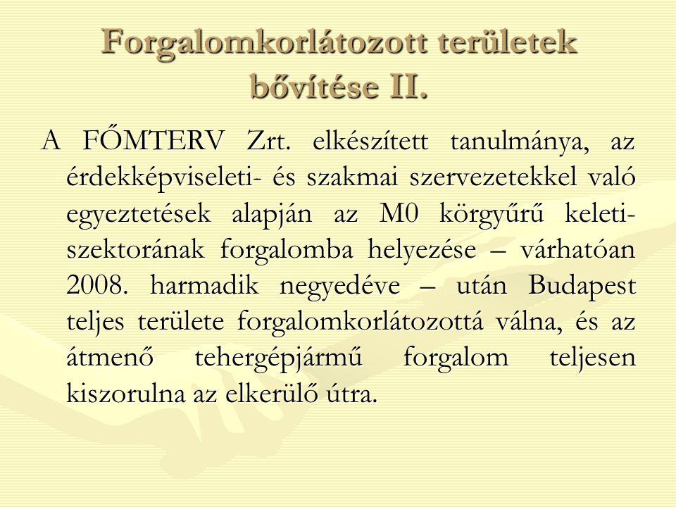 Forgalomkorlátozott területek bővítése II.A FŐMTERV Zrt.