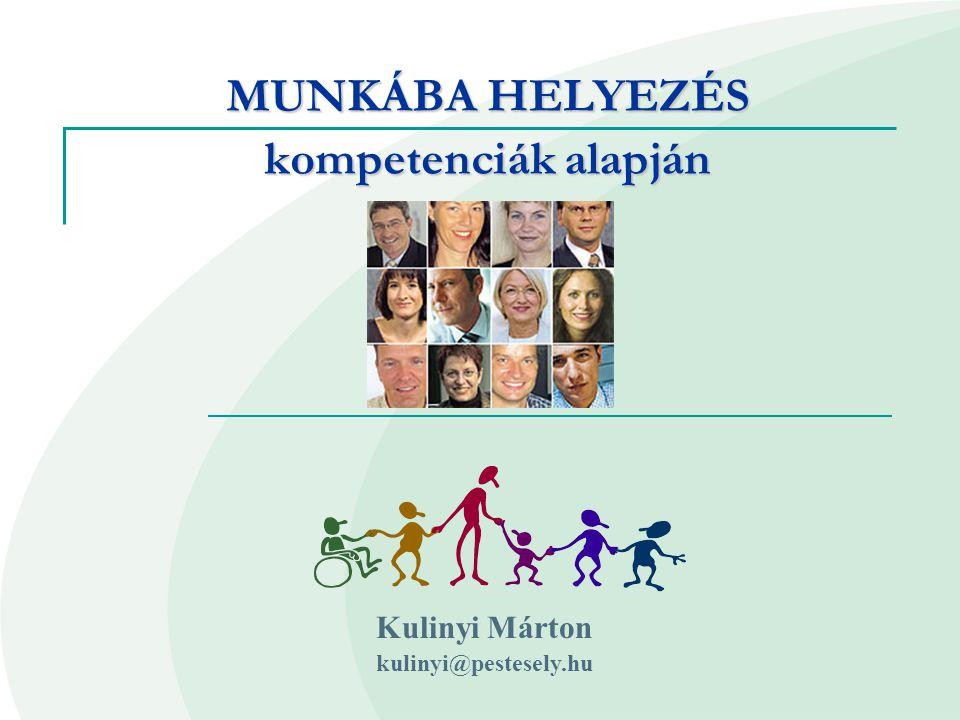 MUNKÁBA HELYEZÉS kompetenciák alapján Kulinyi Márton kulinyi@pestesely.hu
