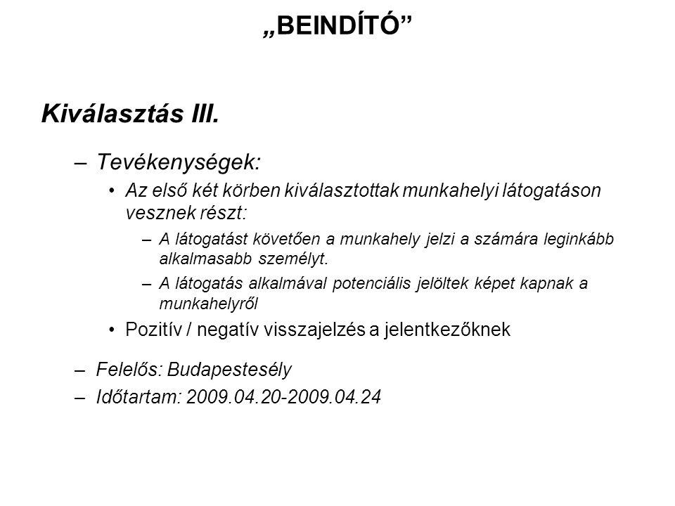 További információ: Hargitai Dávid projektvezető Budapest Esély - FKFSZ Kht.