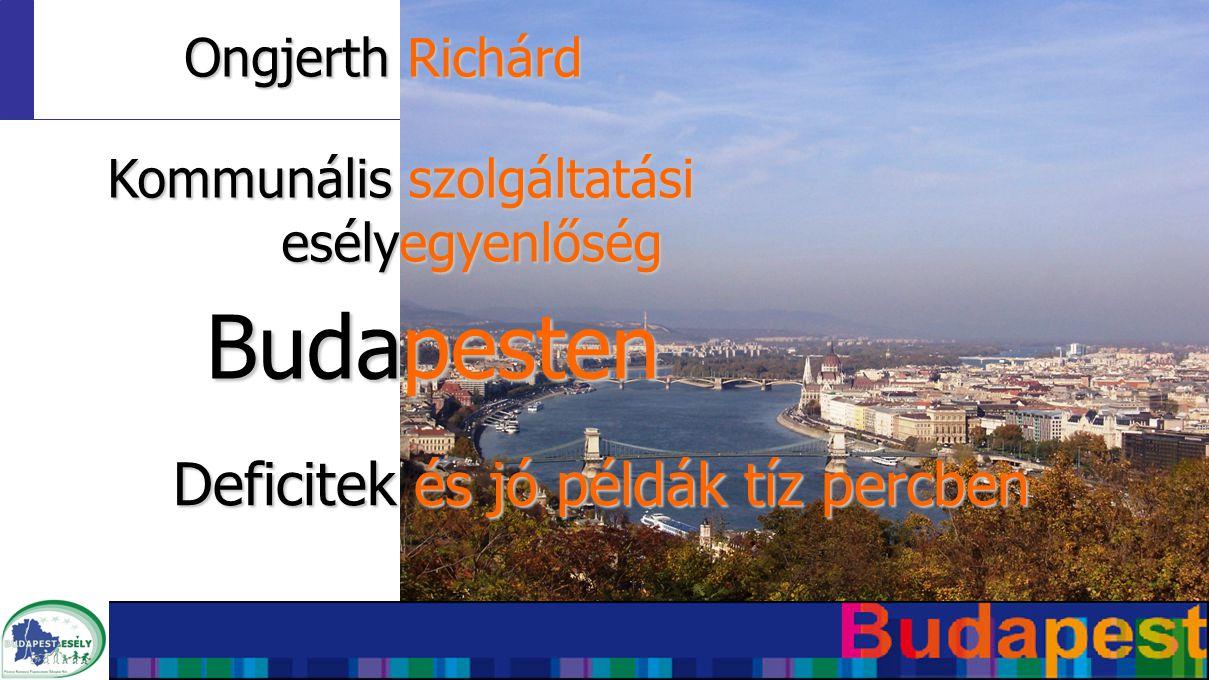 Ongjerth Richárd Budapesten Deficitek és jó példák tíz percben Kommunális szolgáltatási esélyegyenlőség
