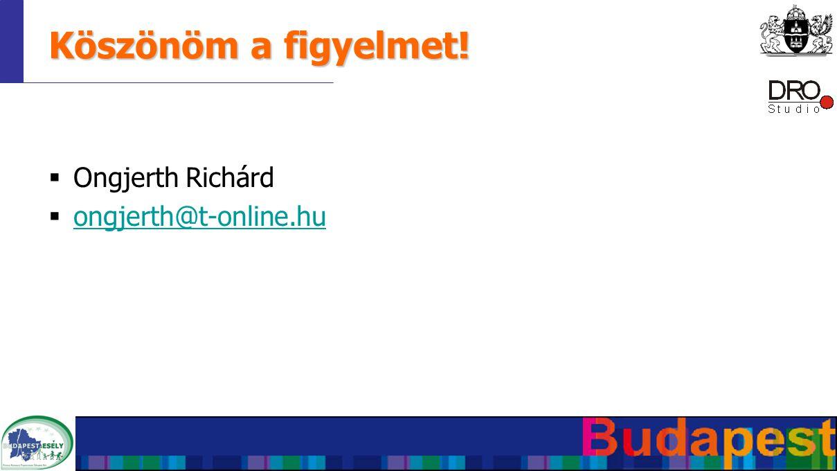 Köszönöm a figyelmet!  Ongjerth Richárd  ongjerth@t-online.hu ongjerth@t-online.hu