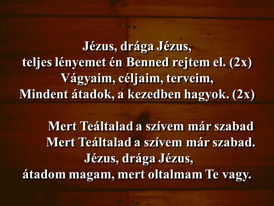 Jézus, drága Jézus, teljes lényemet én Benned rejtem el.
