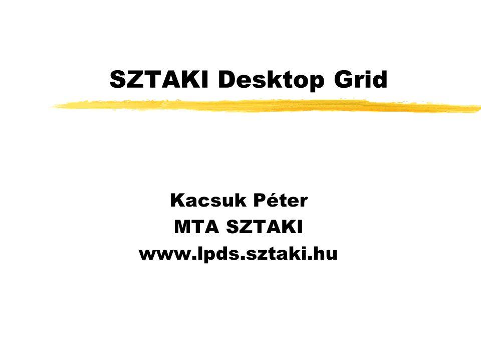 SZTAKI Desktop Grid Kacsuk Péter MTA SZTAKI www.lpds.sztaki.hu