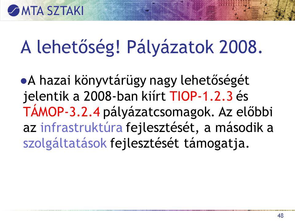 A lehetőség. Pályázatok 2008.