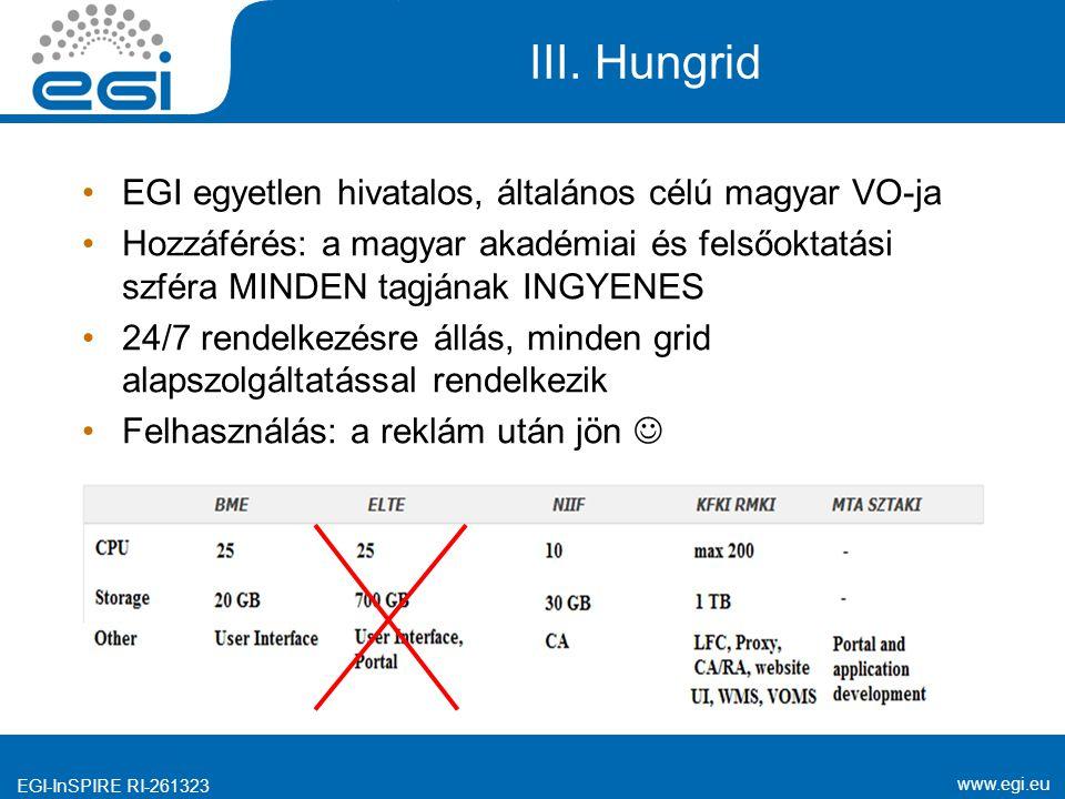 www.egi.eu EGI-InSPIRE RI-261323 III.