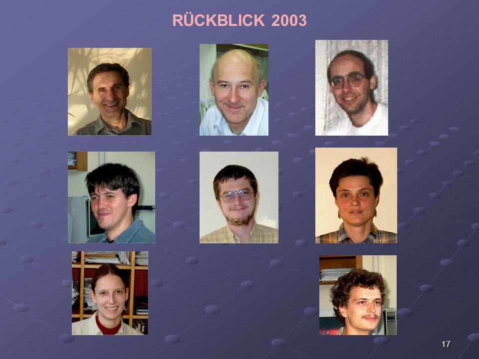 17 RÜCKBLICK 2003