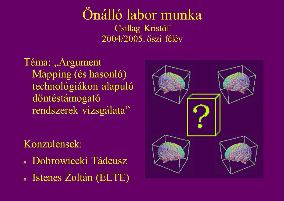 Önálló labor munka Csillag Kristóf 2004/2005.