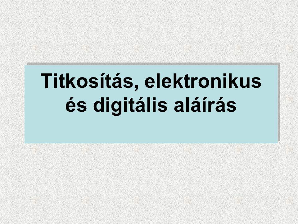 Titkosítás, elektronikus és digitális aláírás