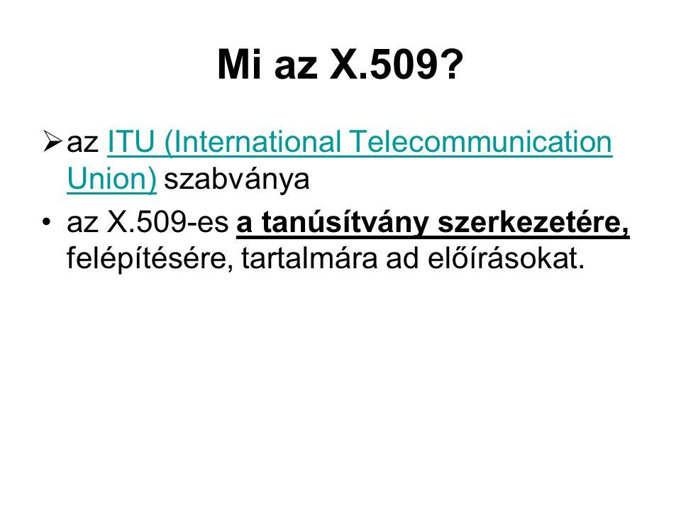 Mi az X.509.
