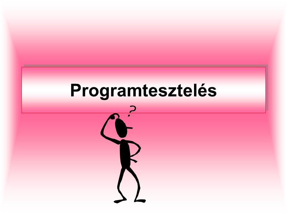 Hibák keletkezésének okai nem egyértelmű vagy hiányos kommunikáció fejlesztés közben maga a szoftver bonyolultsága programozói (kódolási) hibák folytonosan változó követelmények határidők szorítás és fokozott versenyhelyzet emberek vagyunk
