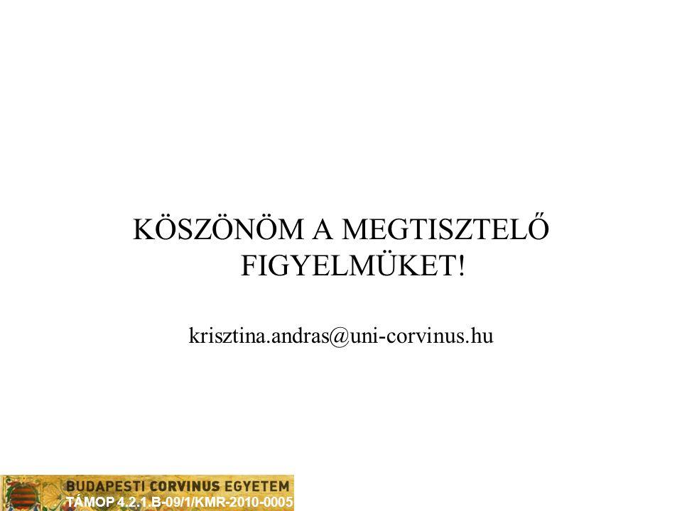TÁMOP 4.2.1.B-09/1/KMR-2010-0005 FELHASZNÁLT IRODALMAK  András Krisztina (2004): A hivatásos labdarúgás piacai, Vezetéstudomány XXXV.