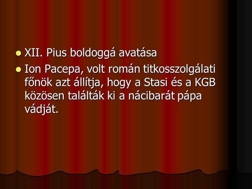 XII. Pius boldoggá avatása XII.