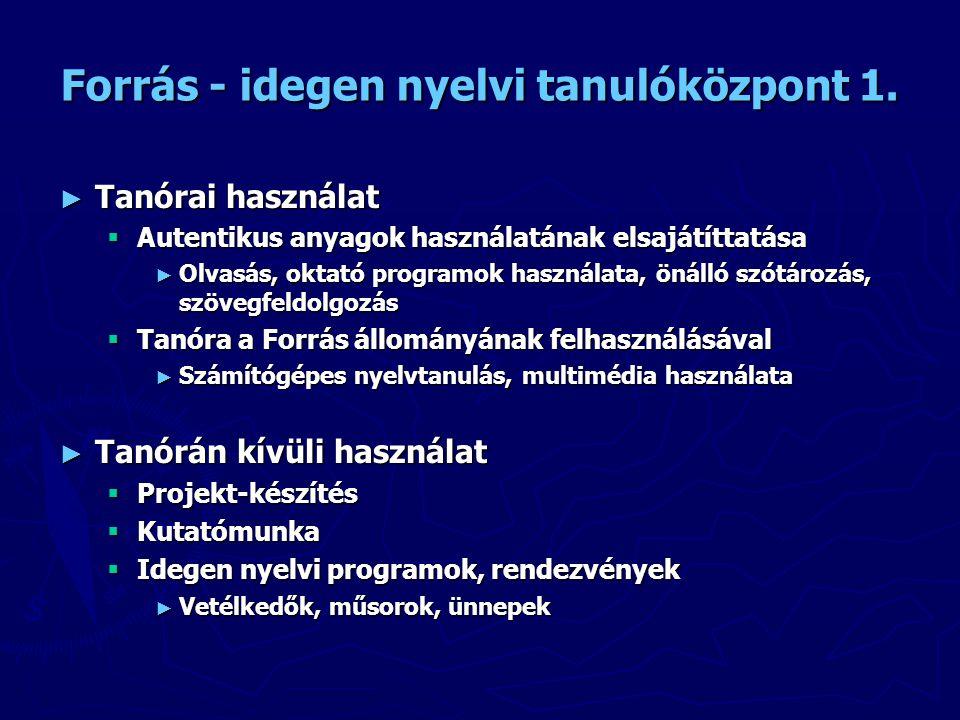Forrás - idegen nyelvi tanulóközpont 1.