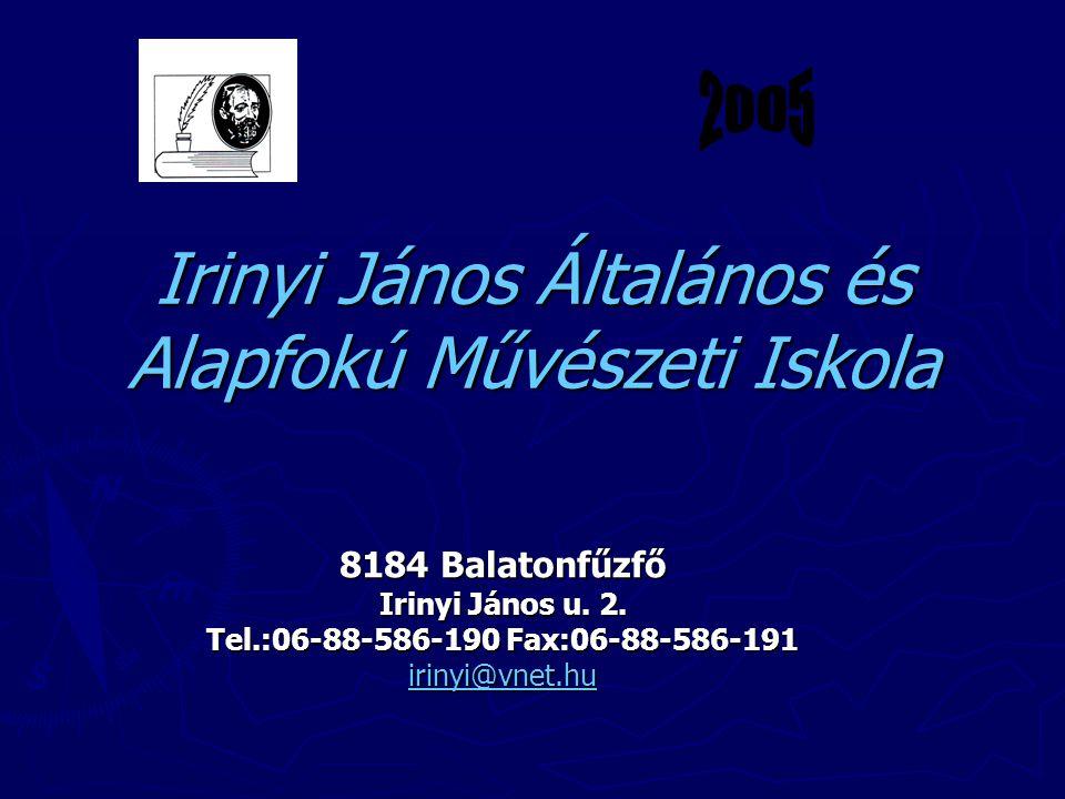 Irinyi János Általános és Alapfokú Művészeti Iskola 8184 Balatonfűzfő Irinyi János u.