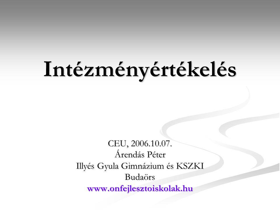 Intézményértékelés CEU, 2006.10.07.