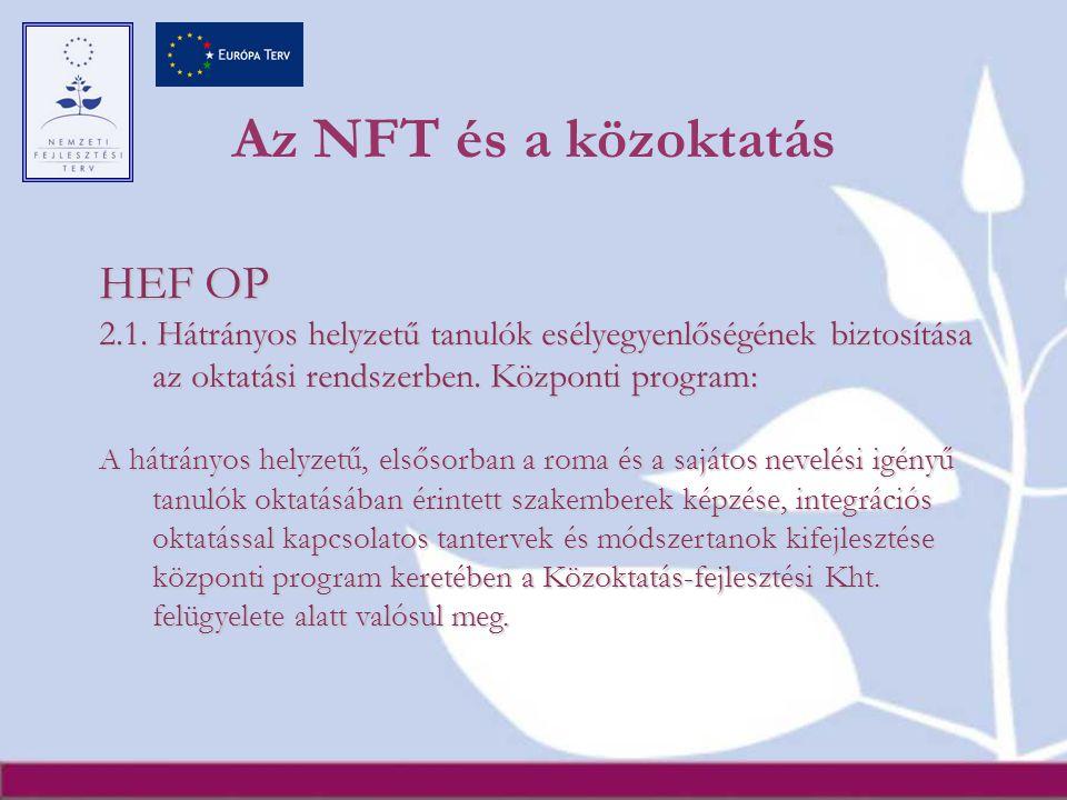 Az NFT és a közoktatás HEF OP 2.1.