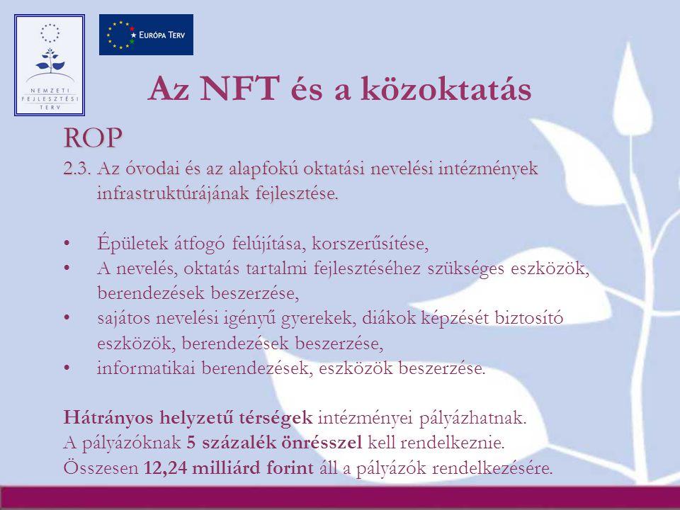 Az NFT és a közoktatás ROP 2.3.