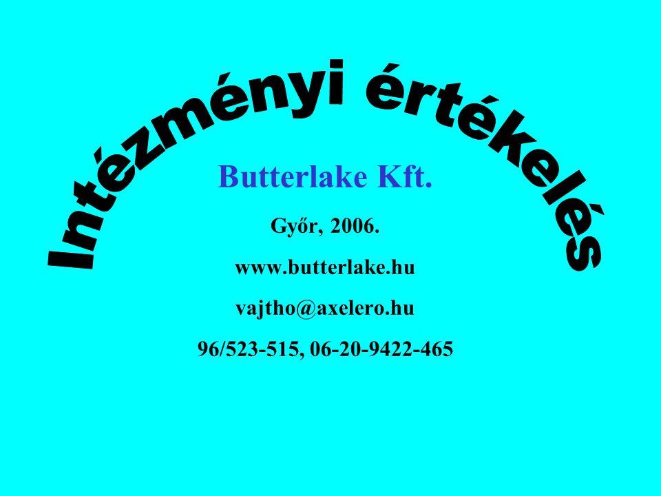 Butterlake Kft. Győr, 2006. www.butterlake.hu vajtho@axelero.hu 96/523-515, 06-20-9422-465
