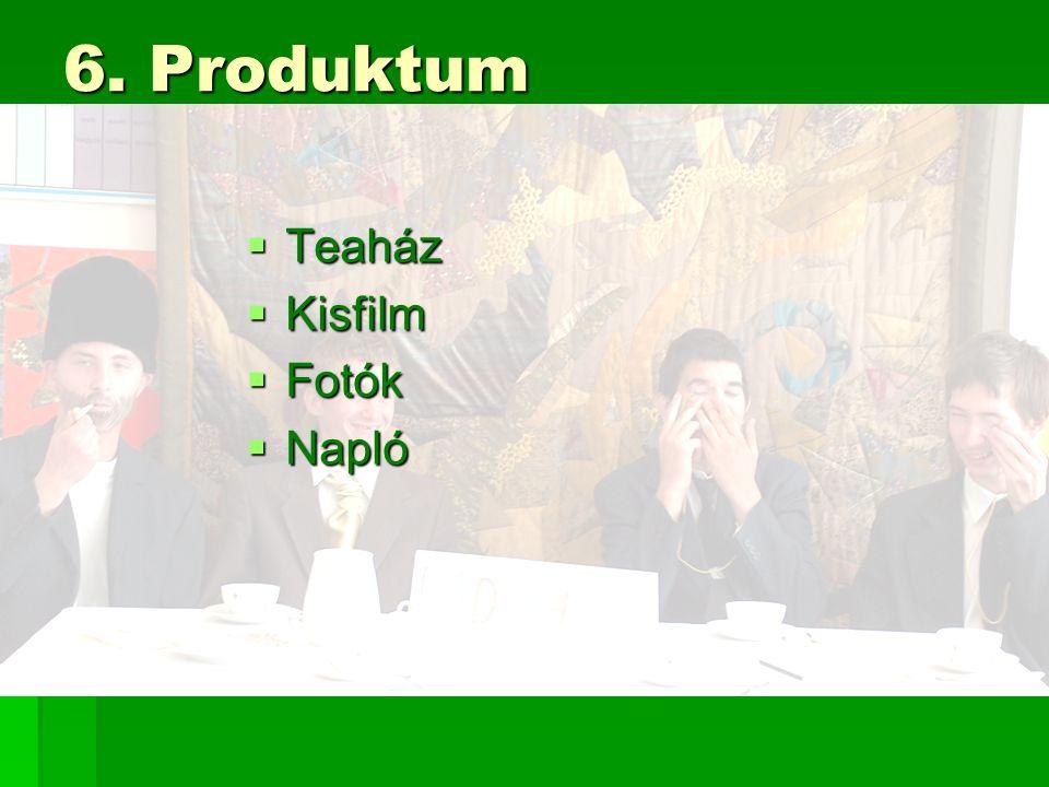 6. Produktum  Teaház  Kisfilm  Fotók  Napló