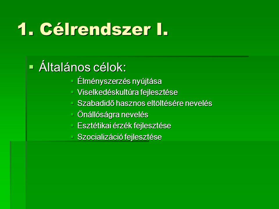 1.Célrendszer II.