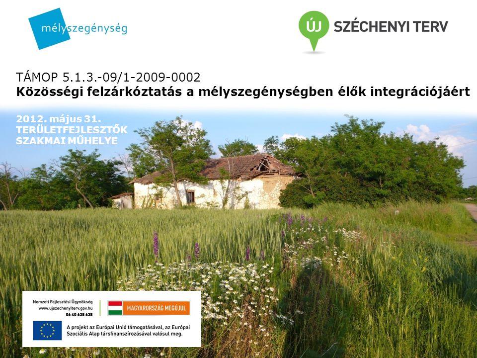 TÁMOP 5.1.3.-09/1-2009-0002 Közösségi felzárkóztatás a mélyszegénységben élők integrációjáért 2012.