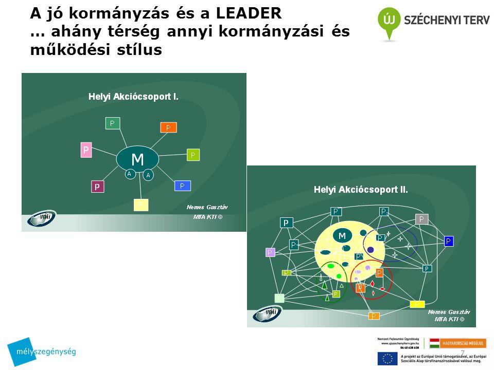 A jó kormányzás és a LEADER … ahány térség annyi kormányzási és működési stílus 7