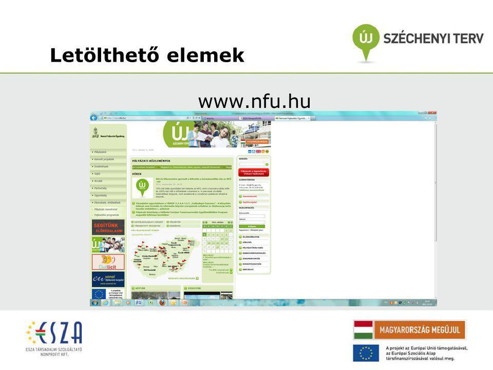 Letölthető elemek www.nfu.hu/doc/25