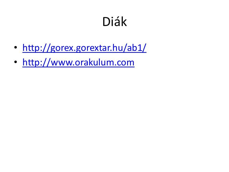 Diák http://gorex.gorextar.hu/ab1/ http://www.orakulum.com